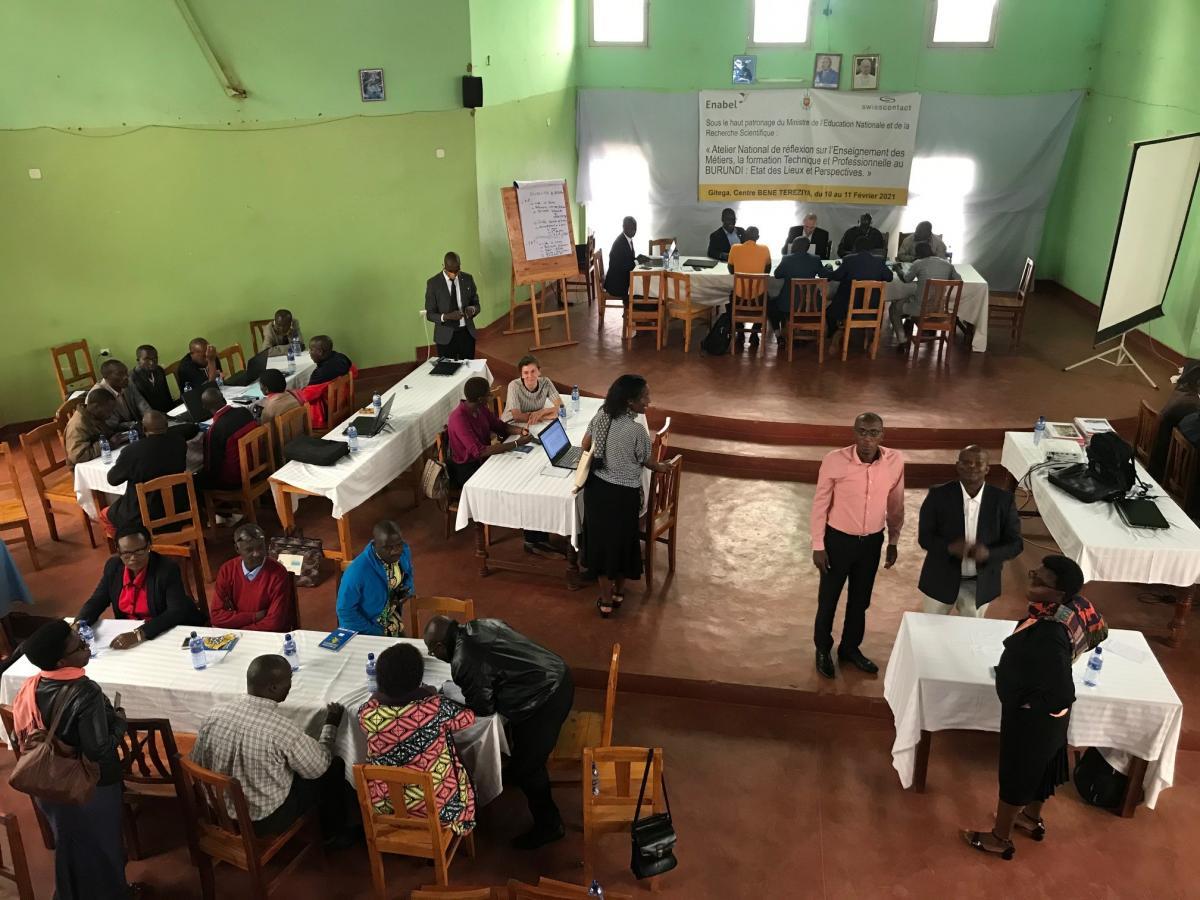 Atelier national de réflexion sur l'Enseignement Technique, la Formation Professionnelle et des Métiers au Burundi