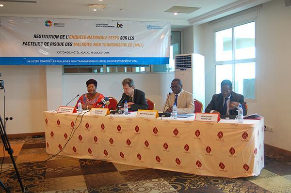 Restitution de l'enquête sur les Maladies Non transmissibles au Bénin : 98% de la population adulte à risque