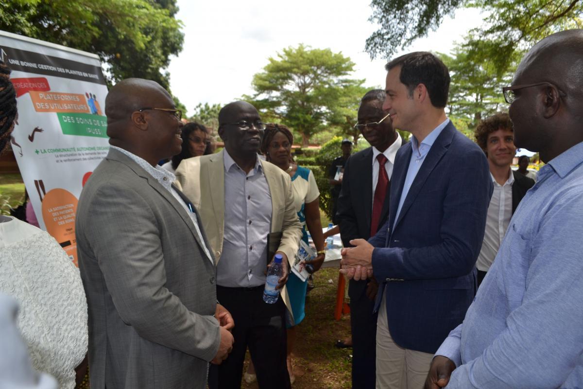 Le Ministre belge de la coopération au développement visite les actions de la CTB BENIN