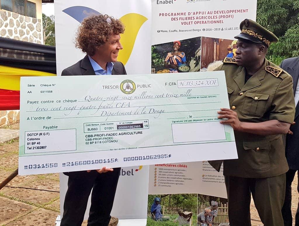 Réalisation des Investissements Communaux:  Enabel au Bénin finance 30 Projets communaux dans le secteur agricole