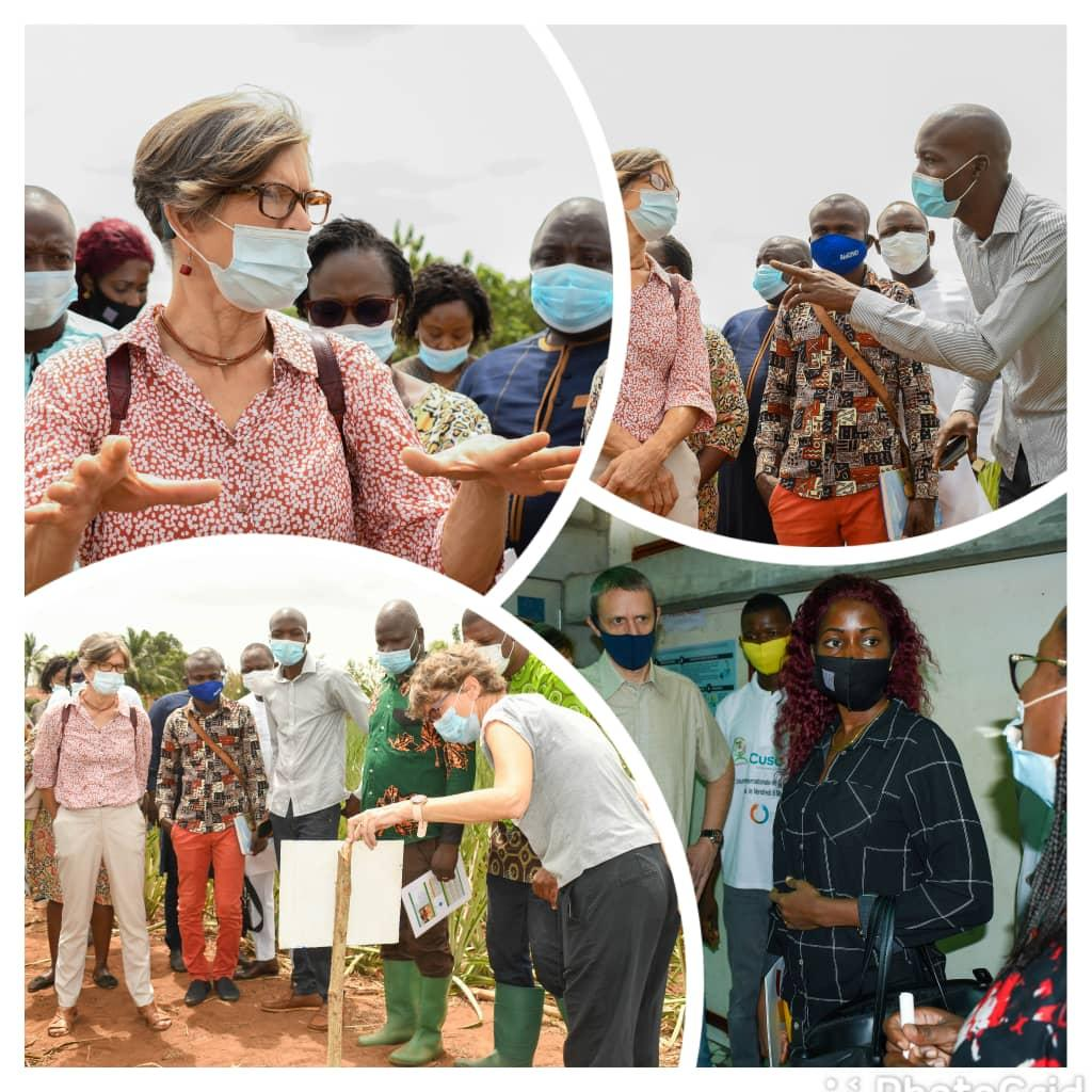 Une délégation de l'Ambassade de Belgique au Bénin et des membres du Comité de pilotage de DEFIA au contacts des bénéficiaires du projet