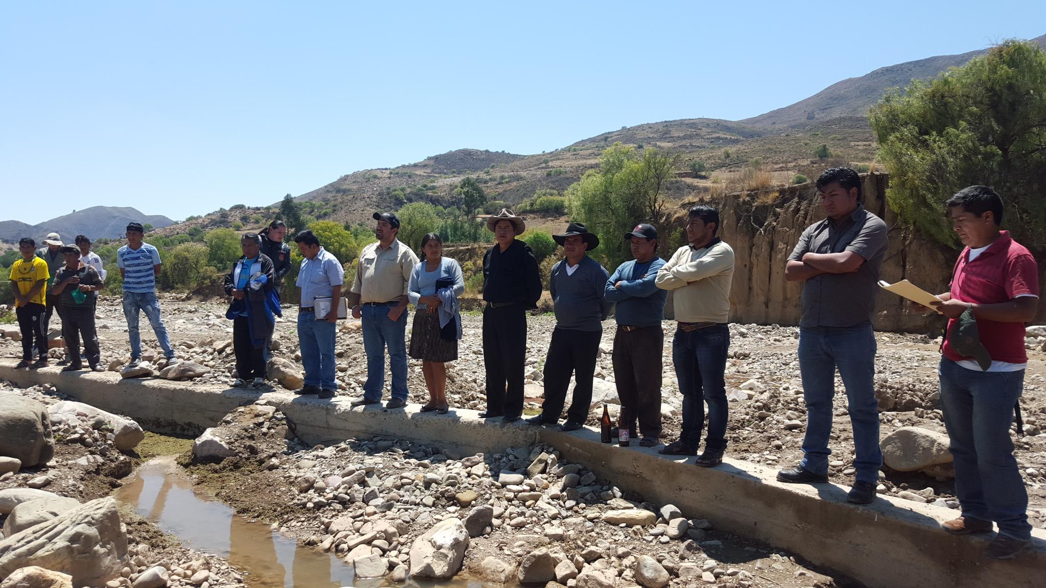 El Programa de Apoyo al Riego Comunitario entrega dos obras de riego  en la comunidad de San Antonio de Toca del municipio de Tarabuco