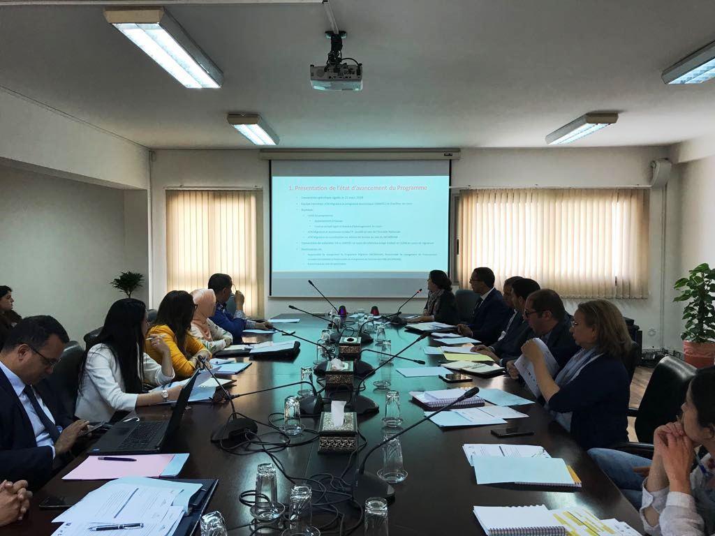 La première réunion du Comité de pilotage marque le démarrage du « Programme d'appui à la gestion de la thématique migratoire »