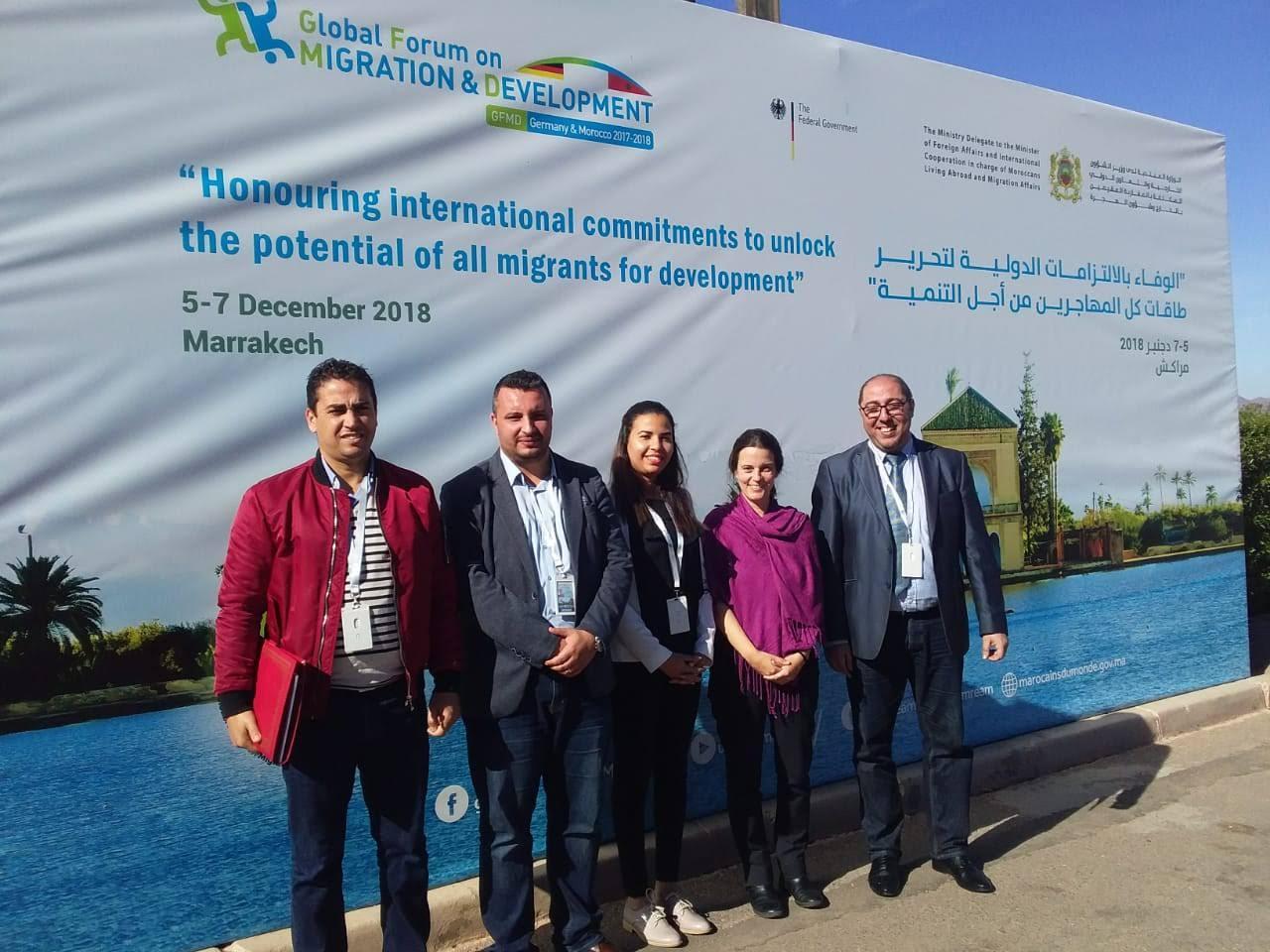 Au Forum Mondial pour la Migration et le Développement (GFMD).