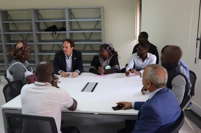 Jean Van Wetter, Directeur Général d'Enabel, visite des initiatives visant à promouvoir l'intégration économique des personnes migrant.e.s