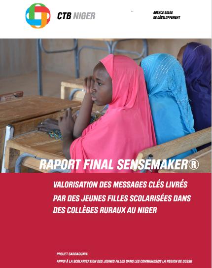 Raport Final Sensemaker: Valorisation des messages clés livrés par des jeunes filles scolarisées dans des collèges ruraux au Niger