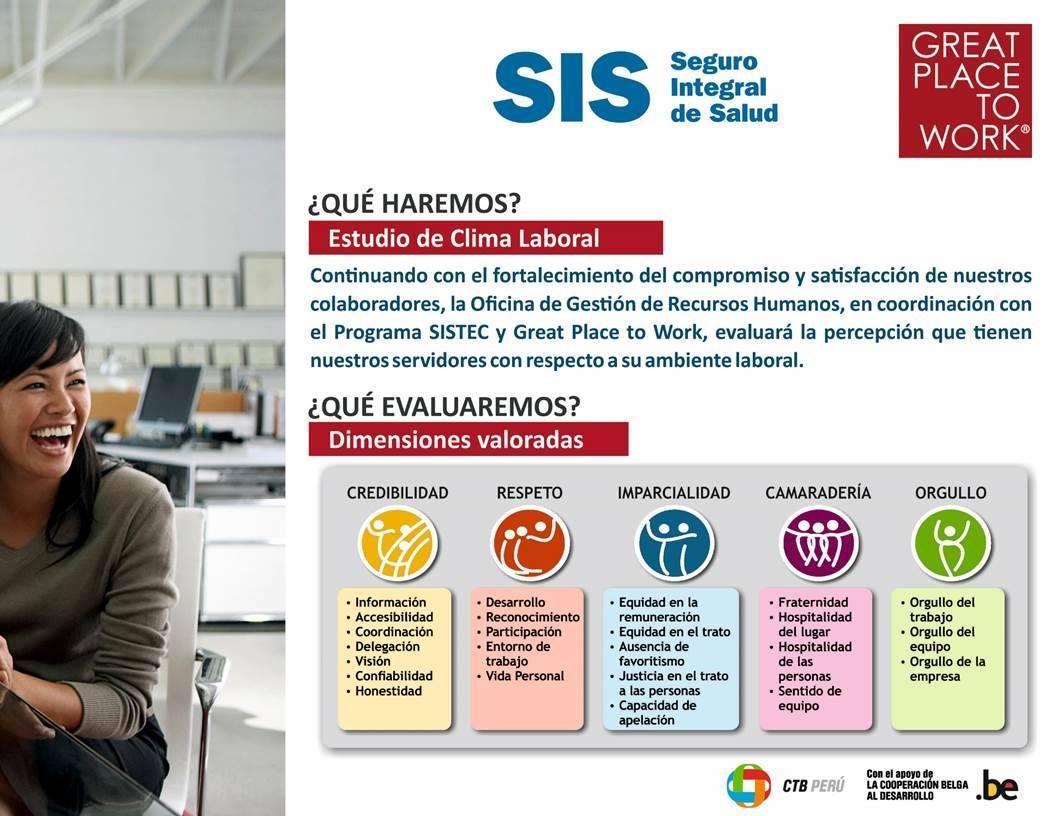 Diagnóstico del Clima Organizacional del Seguro Integral De Salud (SIS)