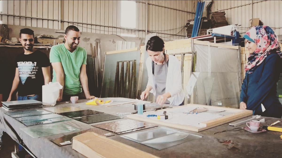GLAZZA – Belgian Glass art comes to Gaza