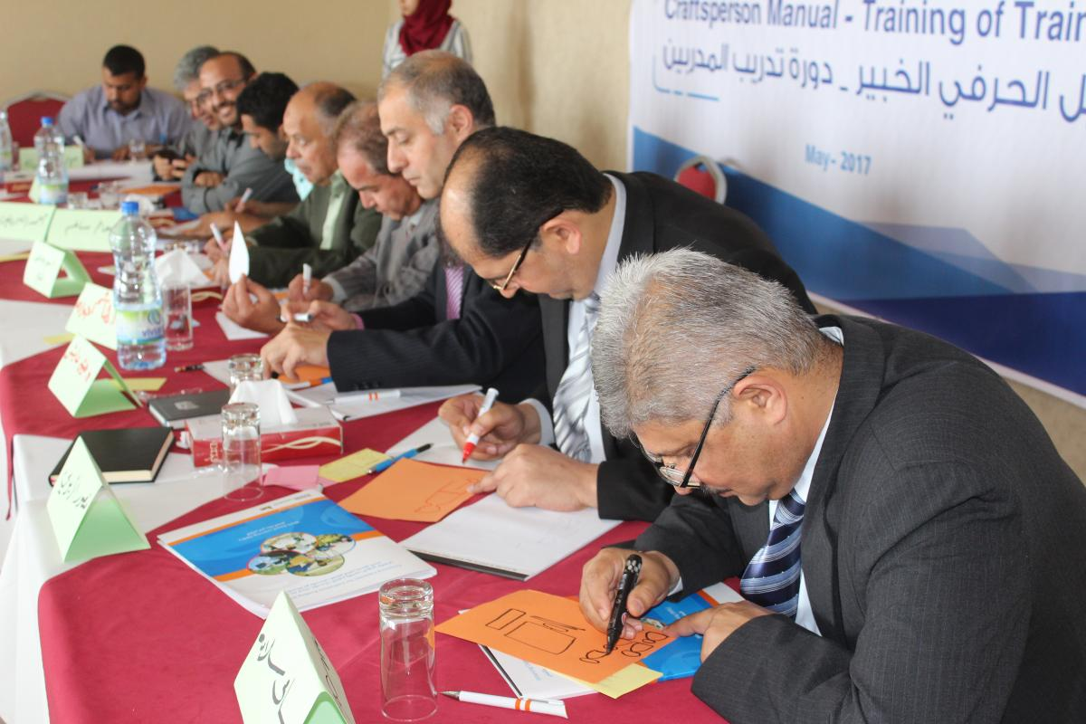 Launch of the Craftsperson Manual – Training of Trainers in the Gaza Strip