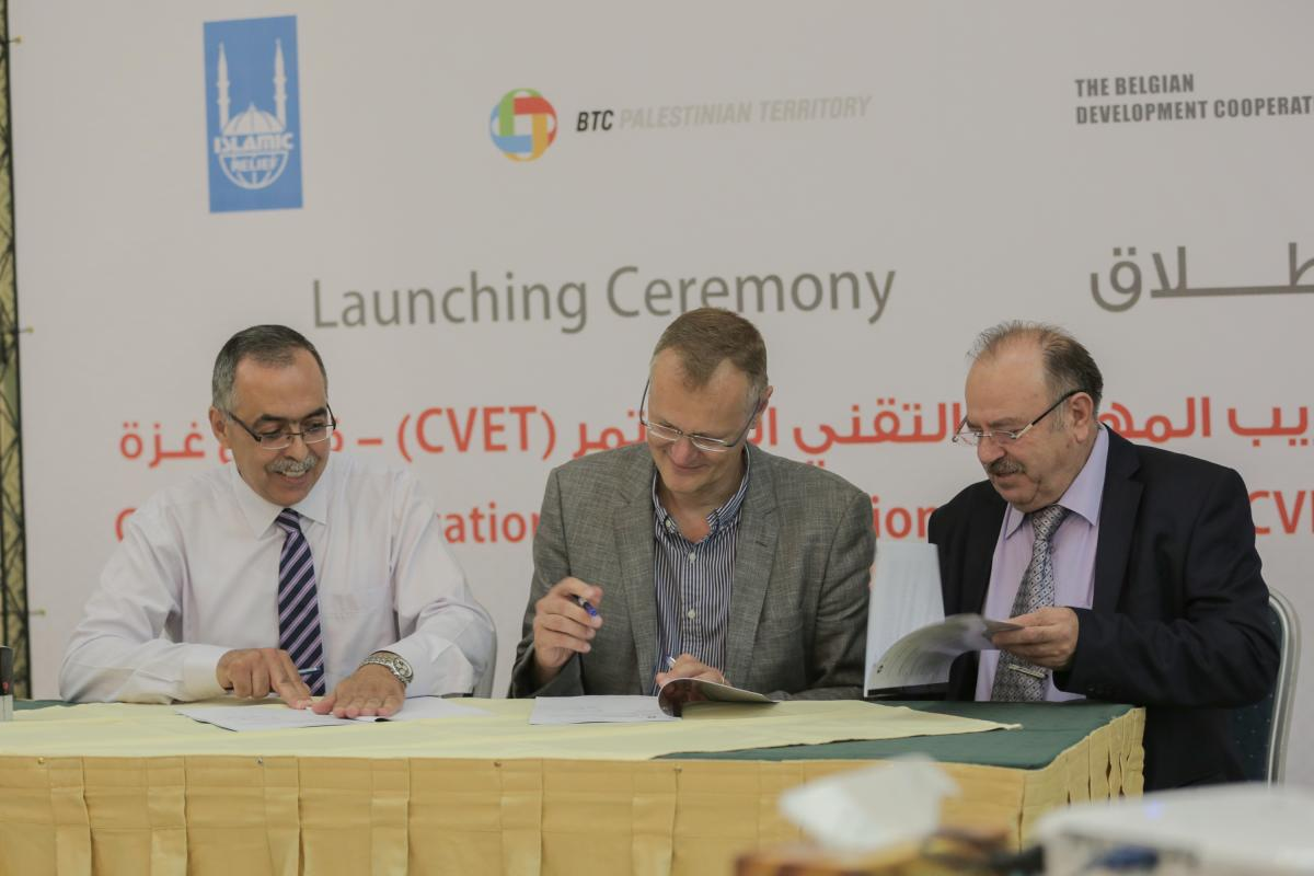 Launch of the Continuous Vocational and Educational Training (CVET) program in Gaza