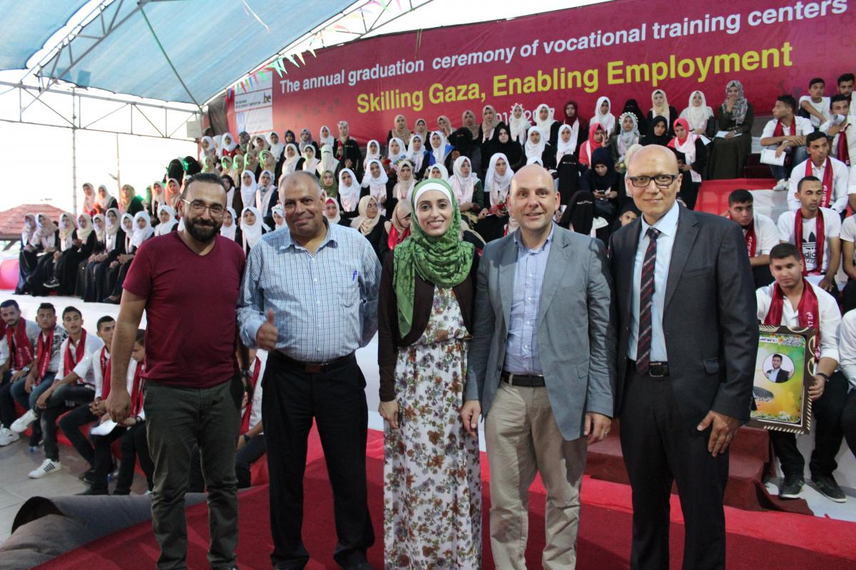 The annual graduation ceremony of vocational training centers' graduates