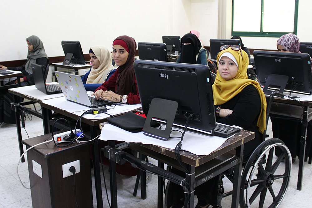 Enabel supports Gaza's women to participate in the International Girls in ICT Day, in partnership with UCAS and UN WOMAN