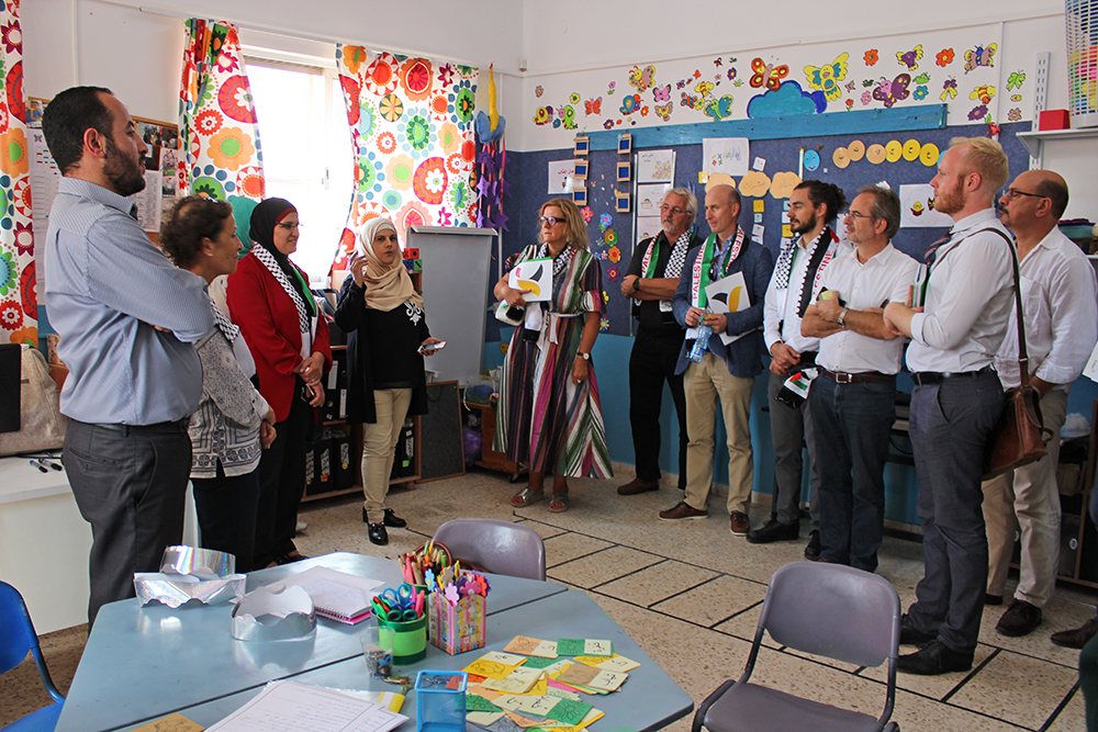European Union Heads of Cooperation visit East Jerusalem Schools