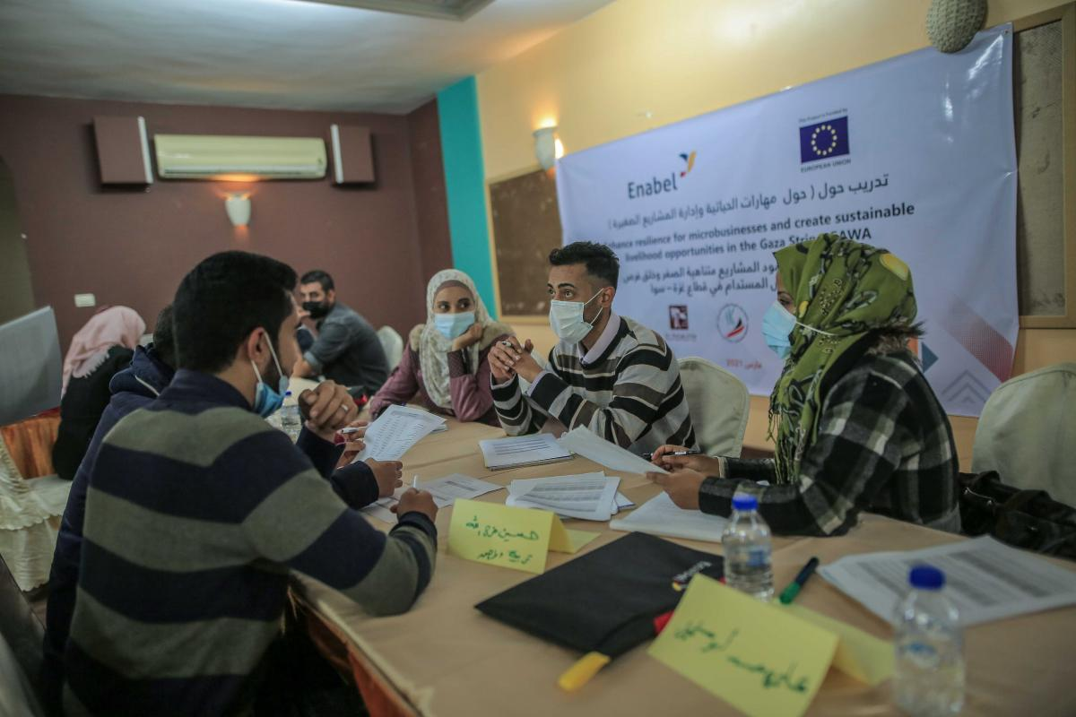 SAWA completed the first phase of the micro-enterprise development training