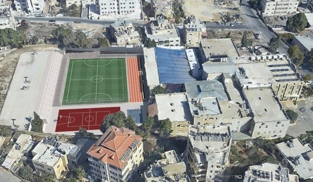 Semi-public sports field in Collège des Frères de la Salle