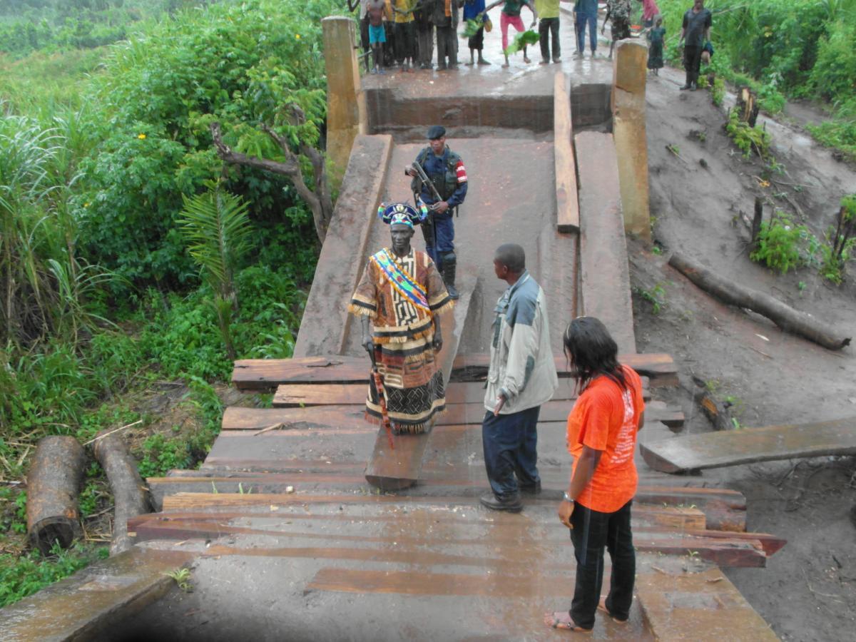 La réhabilitation du pont Kamoutambaye