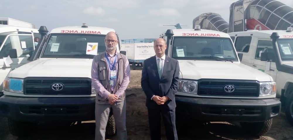 Des ambulances pour améliorer la prise en charge, La Belgique à l'écoute des besoins émis par le Secrétariat Technique de Riposte Covid-19