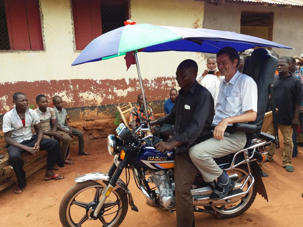 A Gemena, le premier résultat dans le cadre de la mise en place du système de transport des urgences médicales avec la participation communautaire est