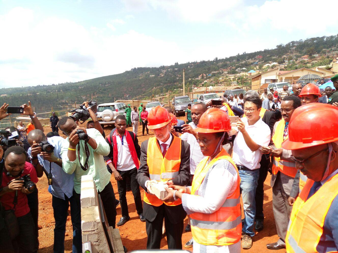 Nyarugenge District hospital: ceremony of first stone laying