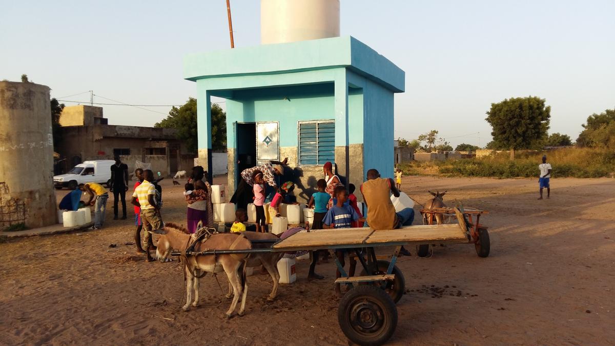 Unité de potabilisation à Sibassor, région de Kaolack