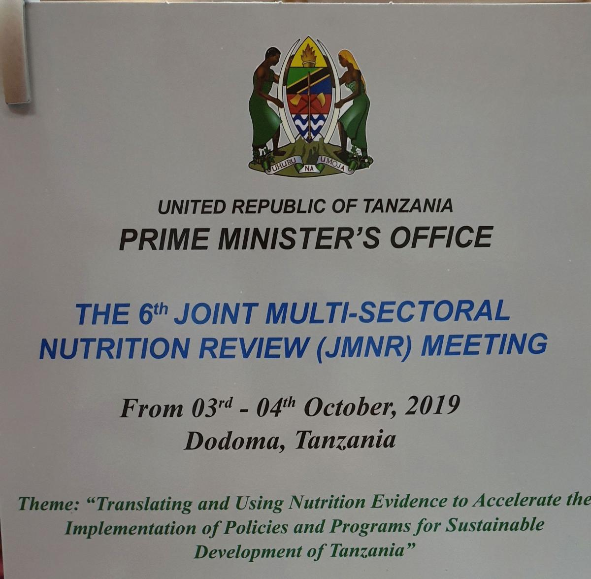 6th Joint Multisectoral Nutrition Review meeting