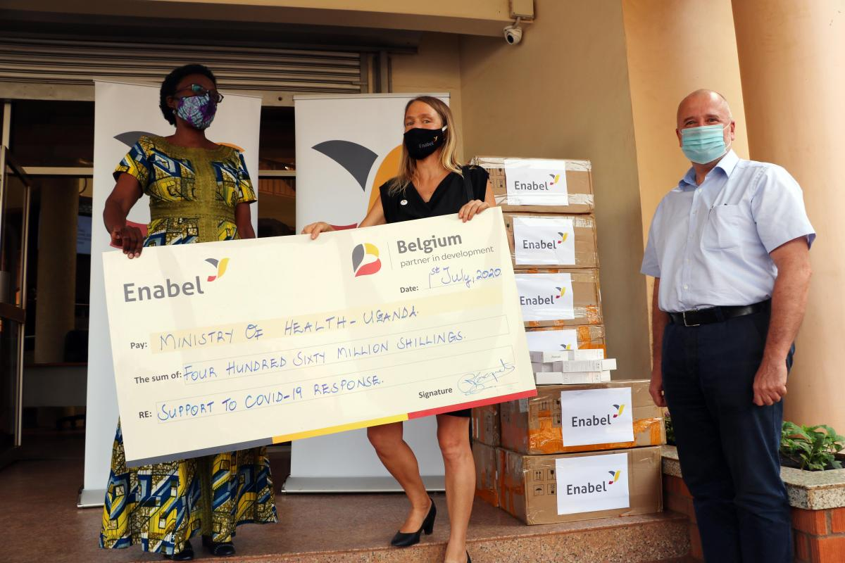 Uganda's Ministry of Health receives UGX. 460 million from Belgium to fight  COVID-19