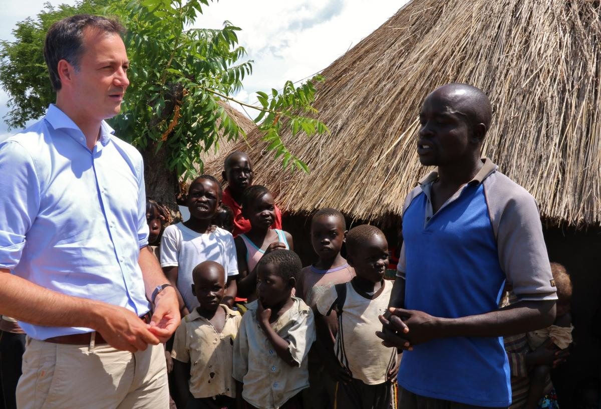 """In Uganda refugees get a chance to rebuild their lives"" Minister Alexander De Croo visits the Bidi Bidi refugee settlement"