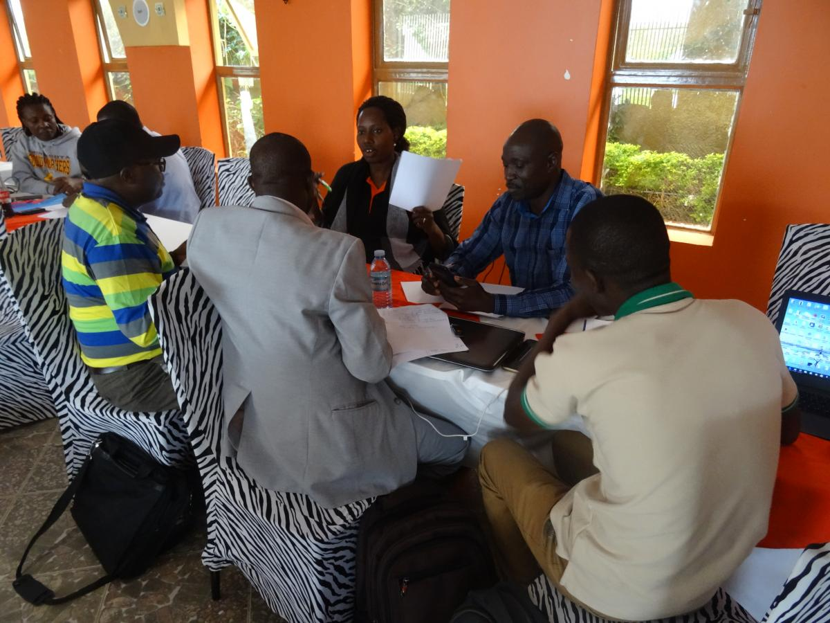 Skills Development Fund workshop with partners in Arua