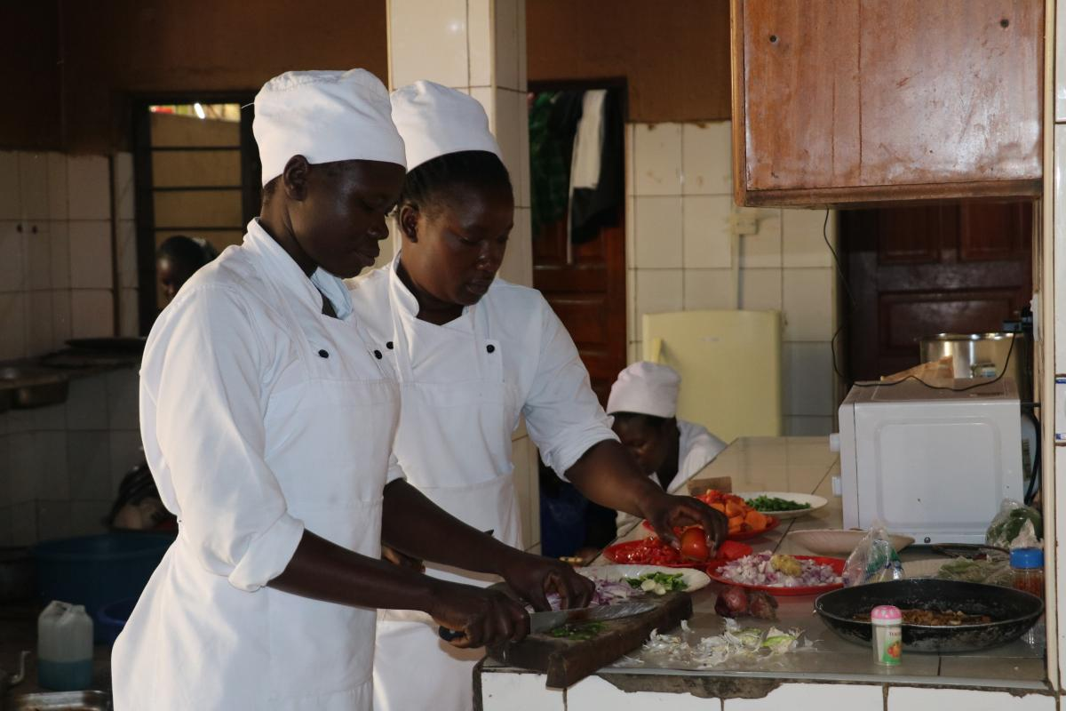 Catering classes light up the future for two orphans