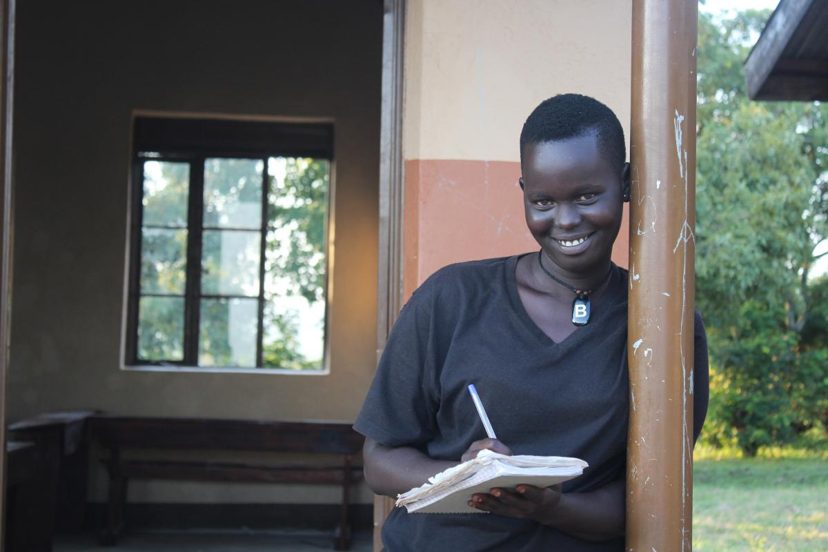 School girl aspires to become midwife to help pregnant refugee women
