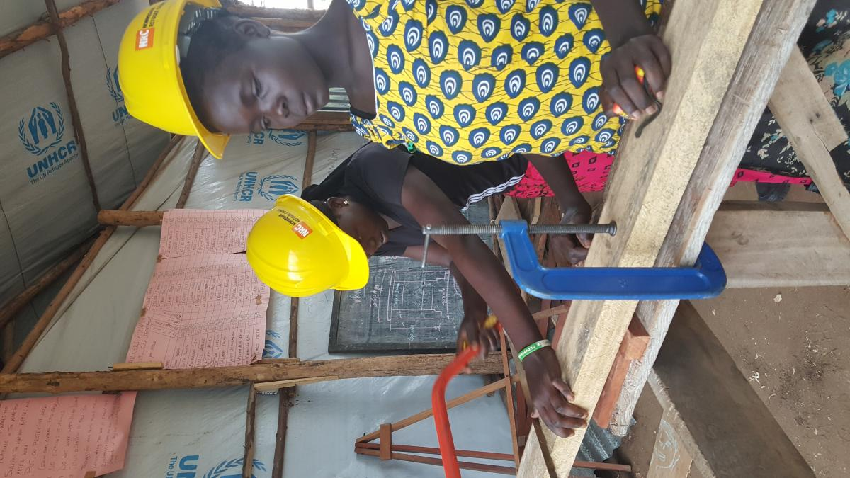 Face to face with the carpentry girls at the world's largest refugee camp