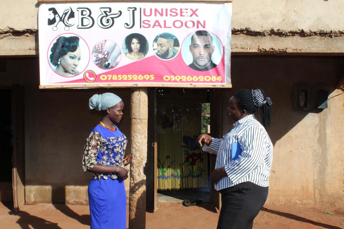 JUDITH THE TRAINED CEO FOR THE BJG UNISEX SALOON IN ABIM -UGANDA