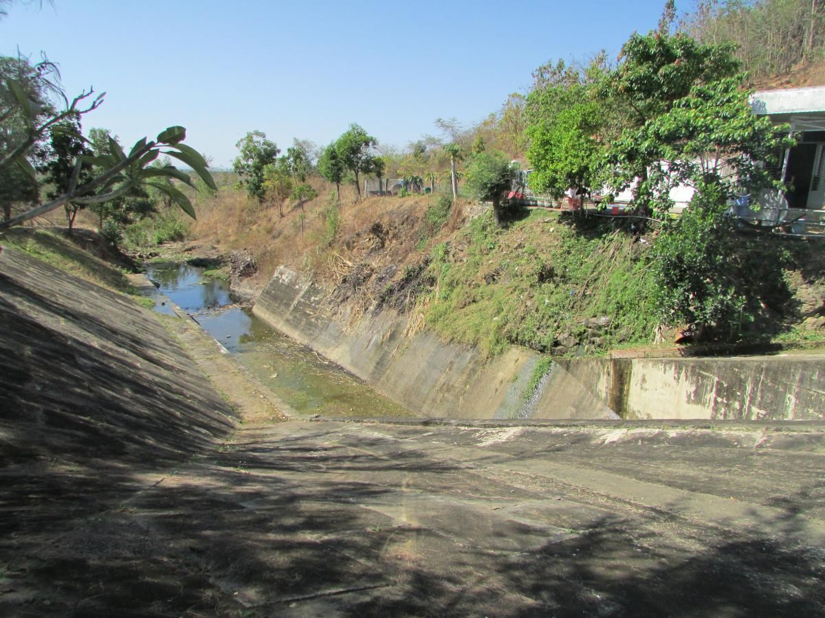 The pilot project of Construction of a water channel and water- efficient irrigation system for improvement of cultivation performance in the area of