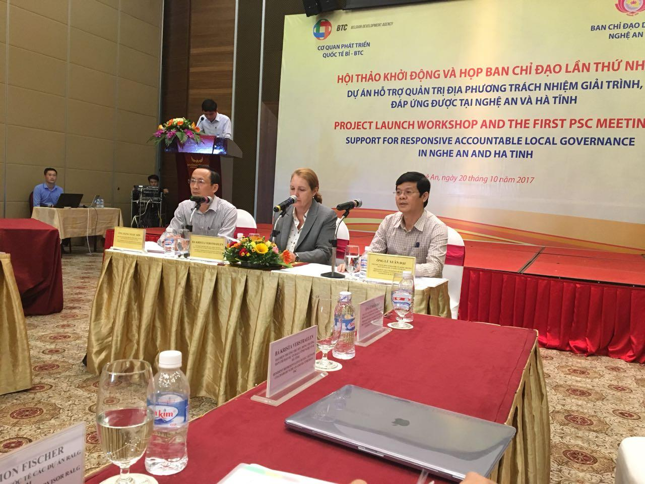 First joint project launch workshop and PSC in Vinh