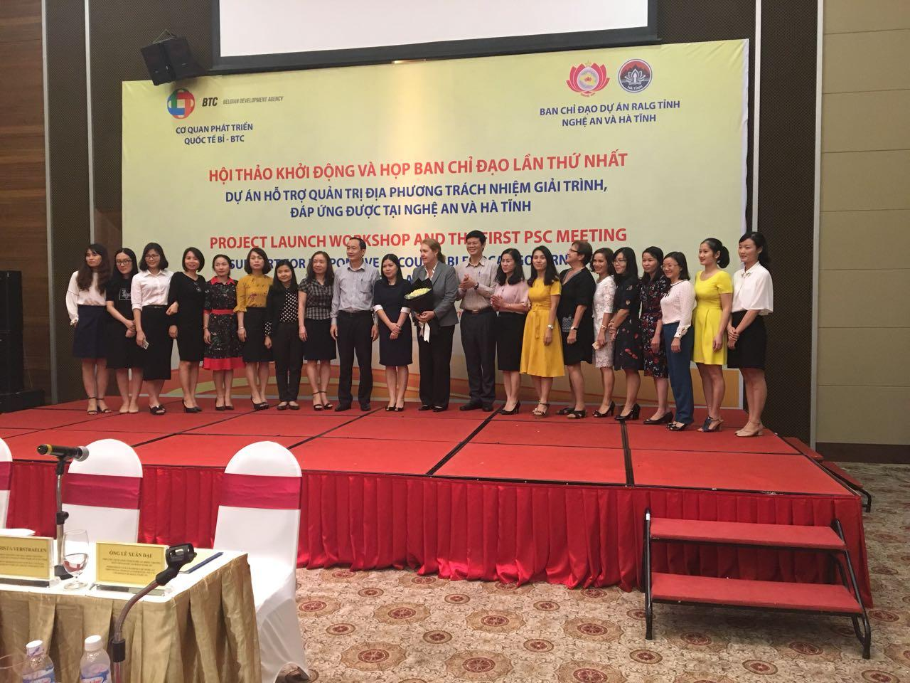 First joint project workshop and PSC in Vinh